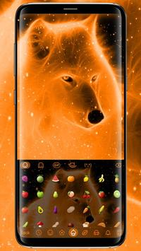 Flaming Wolf Keyboard Theme screenshot 2
