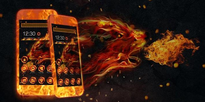 Fire Wolf Theme screenshot 3