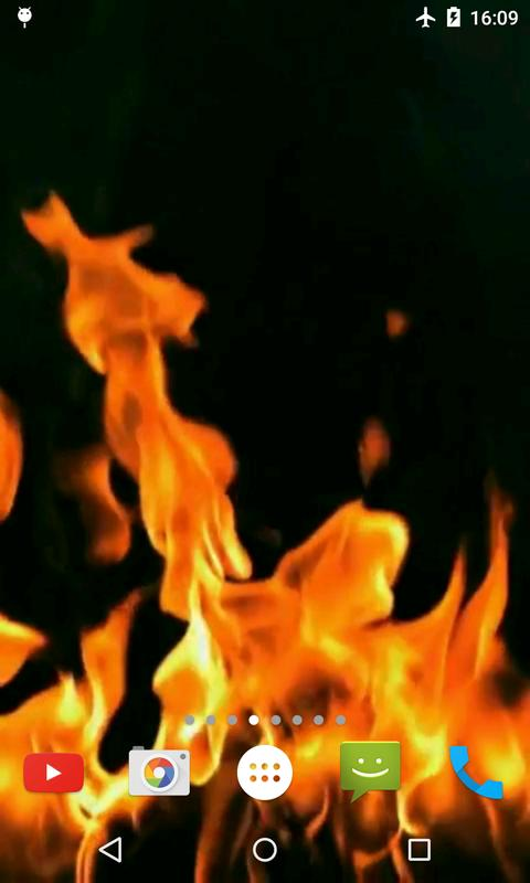 Fire Video Live Wallpaper Poster Apk Screenshot