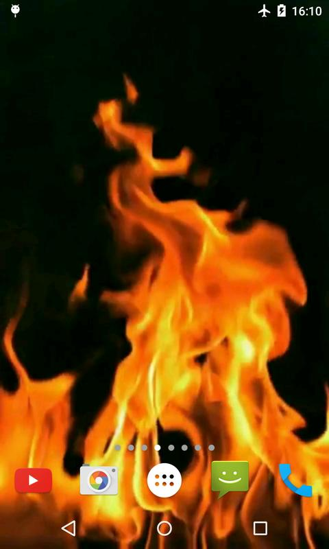 Fire Video Live Wallpaper Apk Screenshot