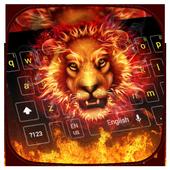 Fire Lion Keyboard Theme icon