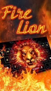 Fire Lion Keyboard Theme poster
