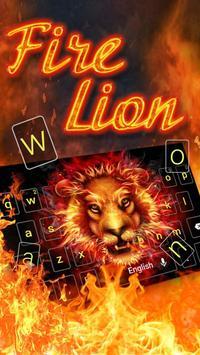 Fire Lion Keyboard Theme apk screenshot
