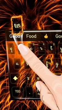 fire lion keyboard flaming beast lightning apk screenshot