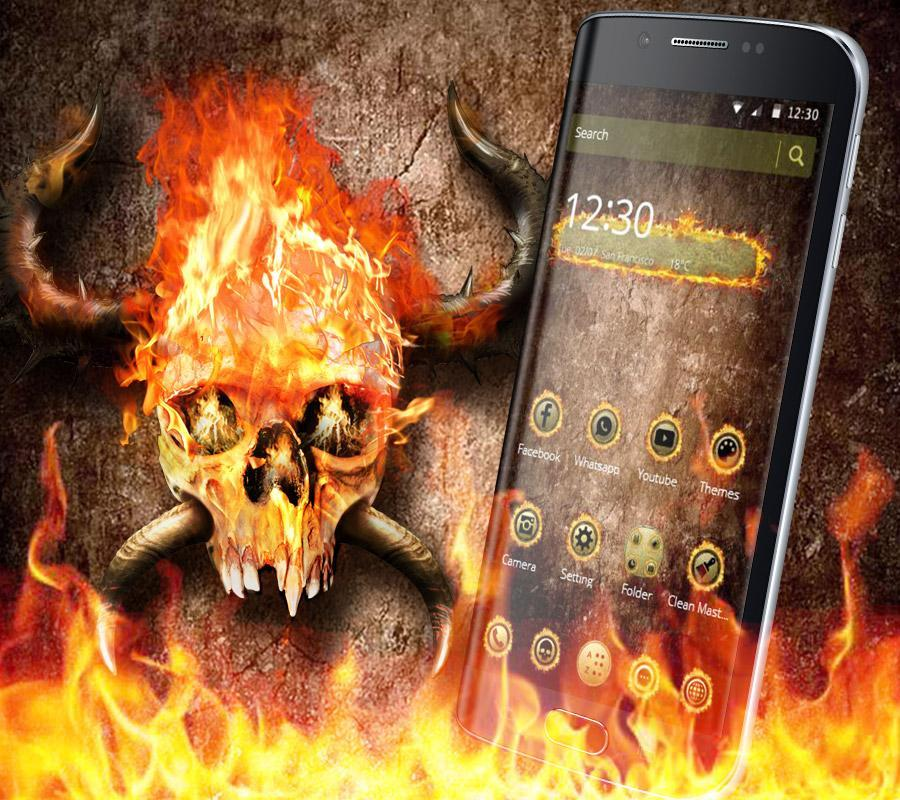 Fire Skull Wallpaper For Android Apk Download