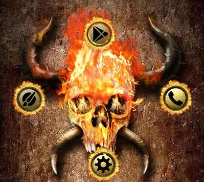 Fire Skull Wallpaper apk screenshot