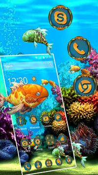 3D HD Cool Fish Theme poster