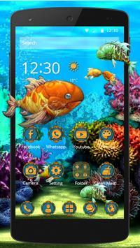 3D HD Cool Fish Theme screenshot 1