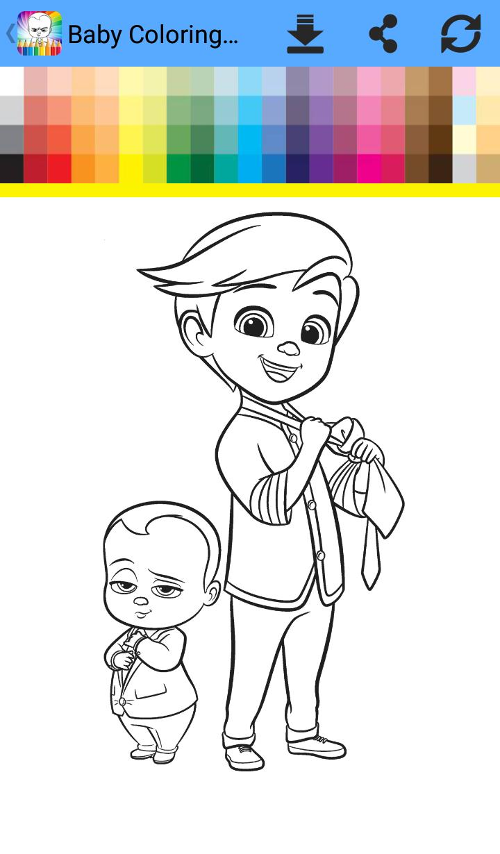 Coloring Book Baby Boss For Android Apk Download