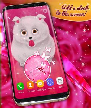 Cute Fluffy Puppy Live Wallpaper screenshot 2