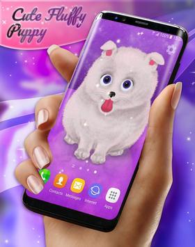 Cute Fluffy Puppy Live Wallpaper screenshot 5