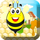 flying bees buzzing icon