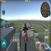 Flying Bike Rider 2017 3D icon