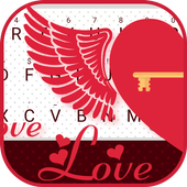 Flying Heart Left Theme&Emoji Keyboard icon