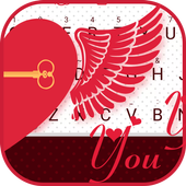 Flying Heart Right Theme&Emoji Keyboard icon