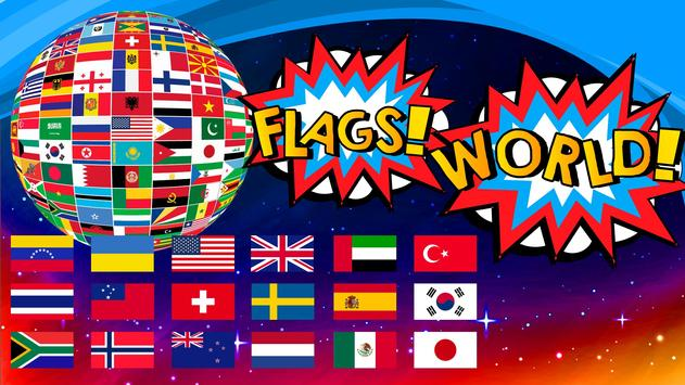 Flags and Cities of the World: Quiz poster
