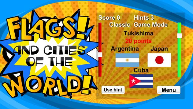 Flags and Cities of the World: Quiz screenshot 4