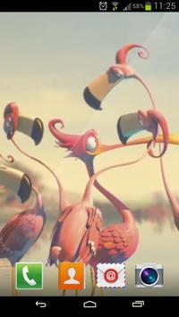 3D Flamingo Live Wallpaper apk screenshot