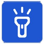 LED FlashLight always on icon