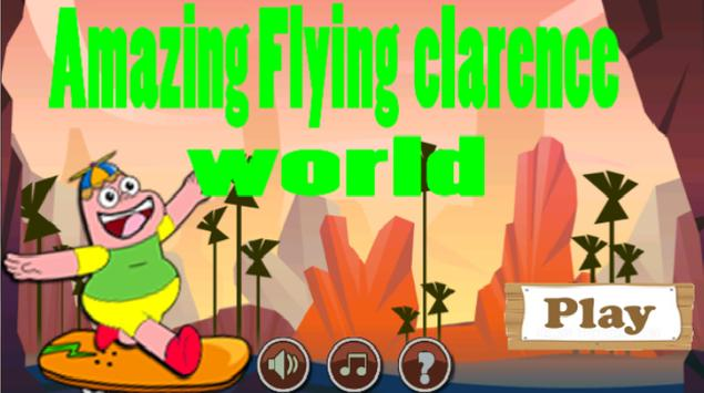 amazing flying clarence world poster