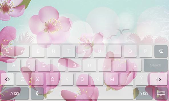 Floral Flower Beauty Keyboard poster