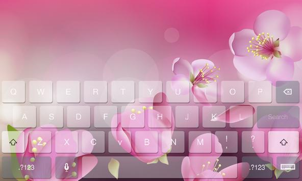 Floral Flower Beauty Keyboard apk screenshot