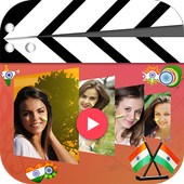 15 August video maker icon