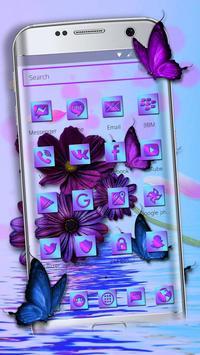 Purple Charming Flower Rose Theme screenshot 1