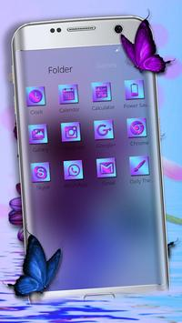 Purple Charming Flower Rose Theme screenshot 2