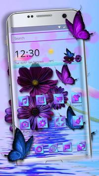 Purple Charming Flower Rose Theme screenshot 4