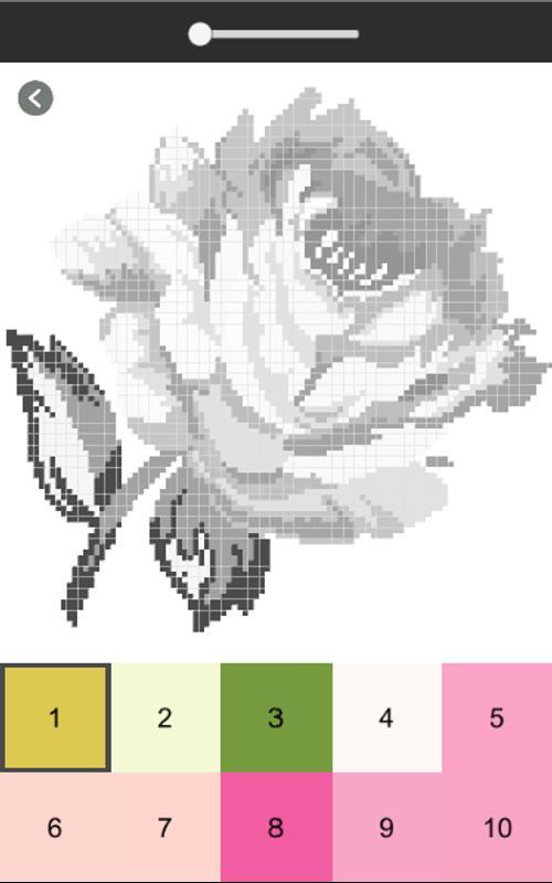 Libro de colorear de flores, flor color por número for Android - APK ...