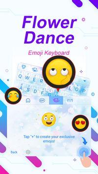 Flower Dance Theme&Emoji Keyboard apk screenshot