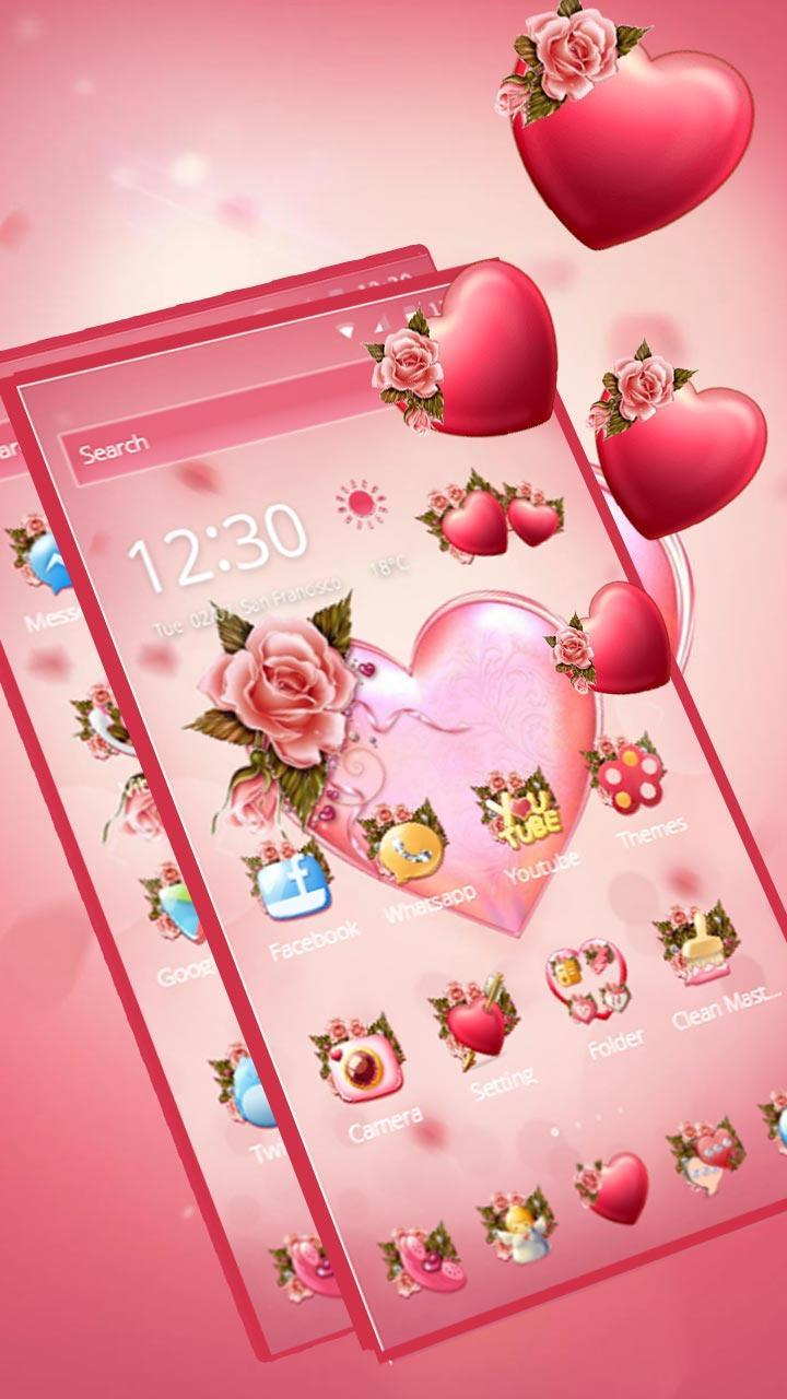 Flower Pink Love Theme for Android - APK Download