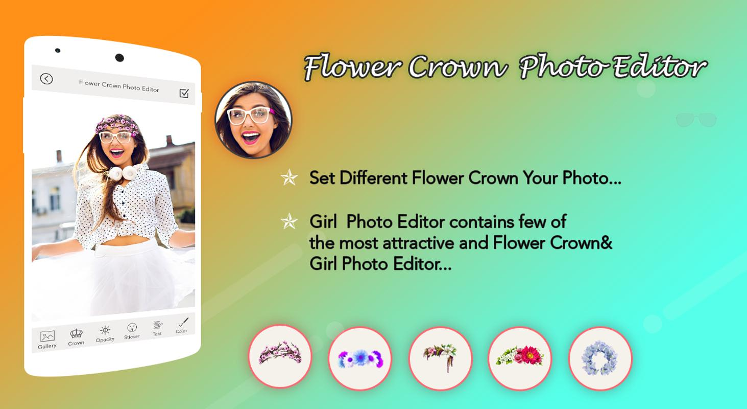 Flower crown photo editor for android apk download flower crown photo editor captura de pantalla 2 izmirmasajfo