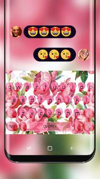 Aroma Pink Flower Keyboard poster