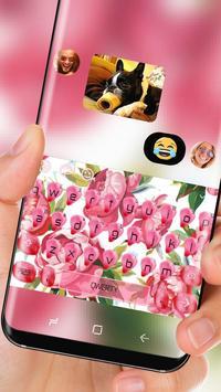 Aroma Pink Flower Keyboard screenshot 2