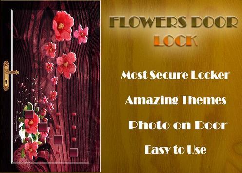 Flowers Door Lock Screen poster