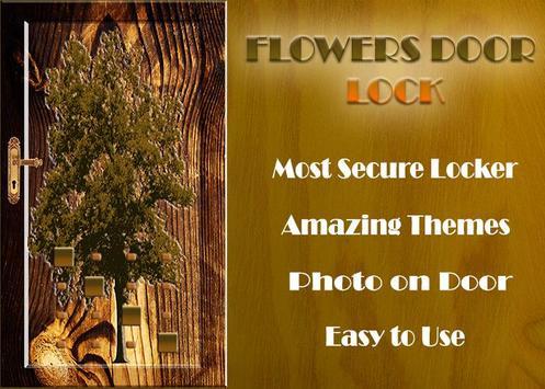 Flowers Door Lock Screen screenshot 1