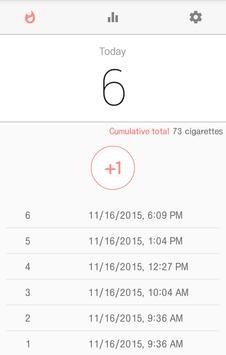Cigarecord - smoking counter apk screenshot
