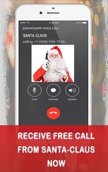 Fake Call from Santa claus poster