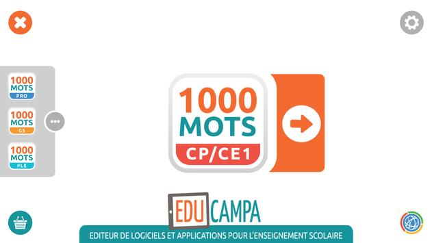 1000 Mots CP-CE1 poster
