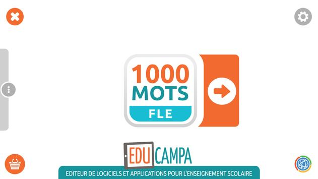 1000 Mots FLE poster