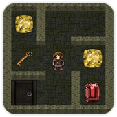 Maze dark labyrinth and exploration icon