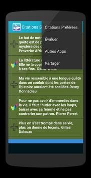 Citations Vie - En Français apk screenshot