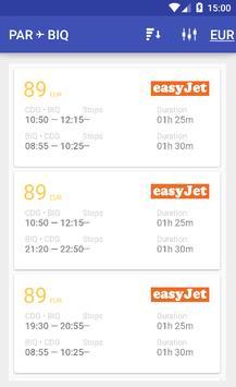 les billets d'avion screenshot 2