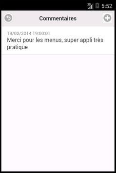 MyMenus apk screenshot