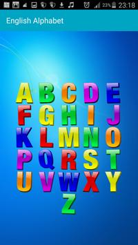 To learn the English alphabet apk screenshot