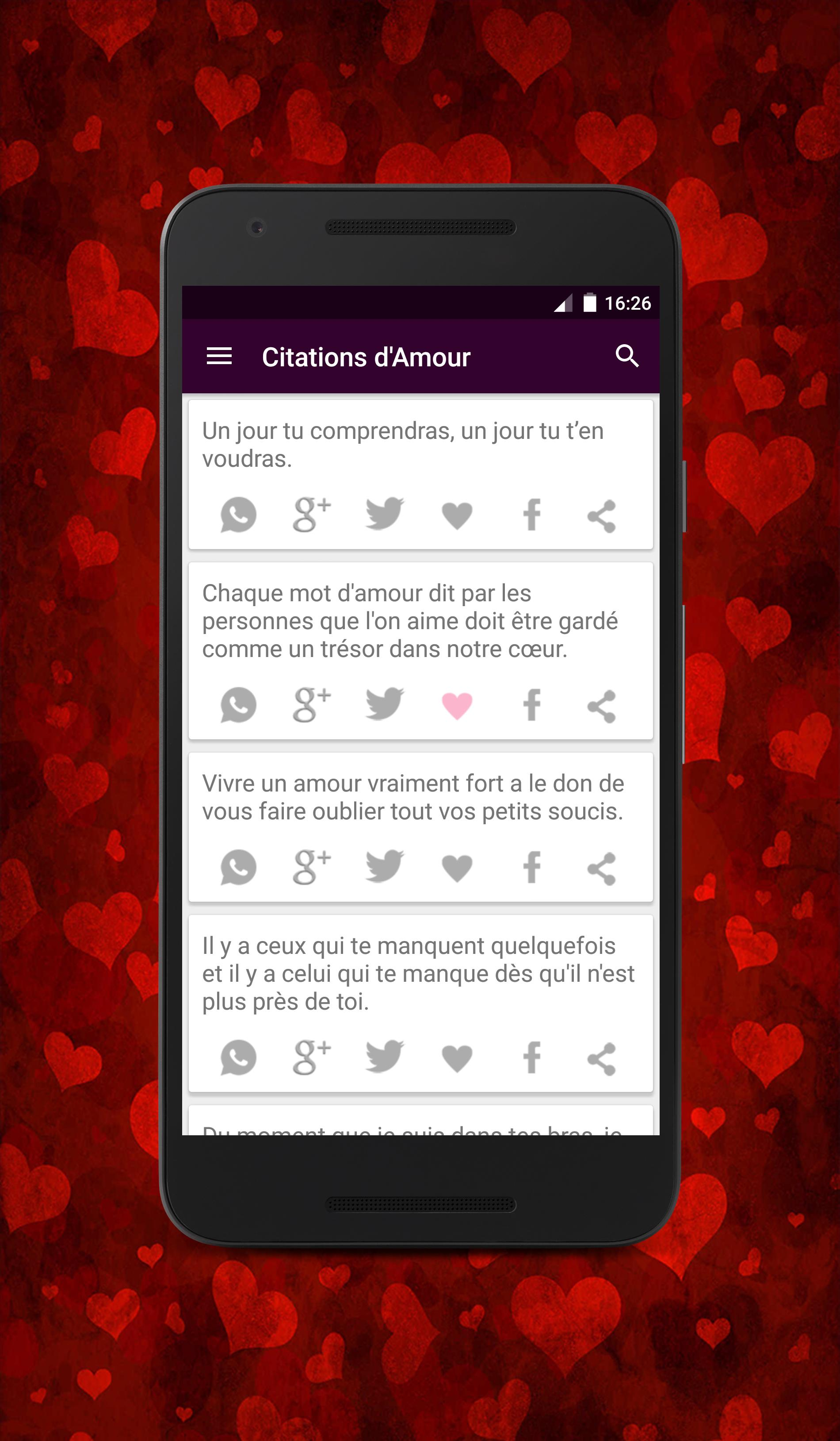 Citations D Amour For Android Apk Download