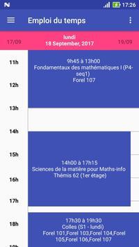 Université Lyon 1 - Emploi du temps apk screenshot