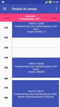 Université Lyon 1 - Emploi du temps poster